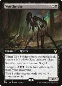 Woe Strider (Extended Art), Magic: The Gathering, Theros Beyond Death