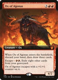 Ox of Agonas (Extended Art), Magic: The Gathering, Theros Beyond Death