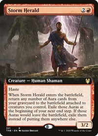 Storm Herald (Extended Art), Magic: The Gathering, Theros Beyond Death