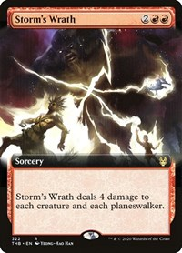 Storm's Wrath (Extended Art), Magic: The Gathering, Theros Beyond Death