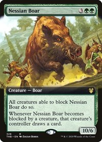 Nessian Boar (Extended Art), Magic: The Gathering, Theros Beyond Death