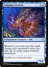 Stinging Lionfish, Magic: The Gathering, Theros Beyond Death