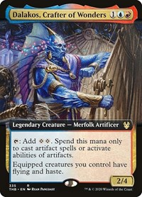 Dalakos, Crafter of Wonders (Extended Art), Magic: The Gathering, Theros Beyond Death