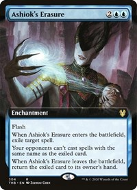 Ashiok's Erasure (Extended Art), Magic: The Gathering, Theros Beyond Death
