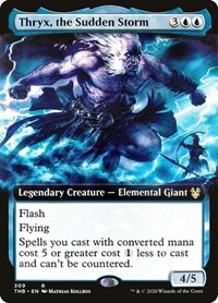 Thryx, the Sudden Storm (Extended Art), Magic: The Gathering, Theros Beyond Death