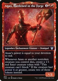 Anax, Hardened in the Forge (Showcase), Magic: The Gathering, Theros Beyond Death