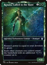 Renata, Called to the Hunt (Showcase), Magic: The Gathering, Theros Beyond Death