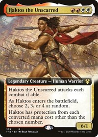 Haktos the Unscarred (Extended Art), Magic: The Gathering, Theros Beyond Death