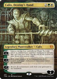 Calix, Destiny's Hand (Borderless), Magic: The Gathering, Theros Beyond Death