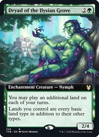 Dryad of the Ilysian Grove (Extended Art), Magic: The Gathering, Theros Beyond Death