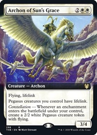 Archon of Sun's Grace (Extended Art), Magic: The Gathering, Theros Beyond Death