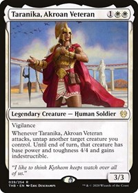 Taranika, Akroan Veteran, Magic: The Gathering, Theros Beyond Death