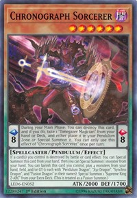 Chronograph Sorcerer, YuGiOh, Legendary Duelists: Magical Hero