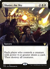 Shatter the Sky (Extended Art), Magic: The Gathering, Theros Beyond Death