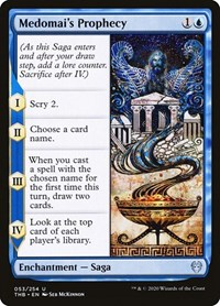 Medomai's Prophecy, Magic: The Gathering, Theros Beyond Death
