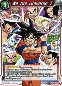 We Are Universe 7, Dragon Ball Super CCG, Universal Onslaught