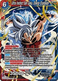 Ultra Instinct Son Goku, Energy Explosion, Dragon Ball Super CCG, Universal Onslaught
