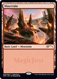 Mountain (2020), Magic: The Gathering, MagicFest Cards