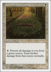 Circle of Protection: Green, Magic: The Gathering, Fifth Edition