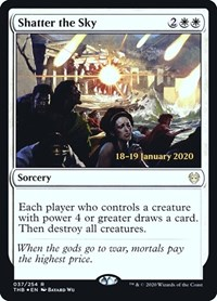 Shatter the Sky, Magic: The Gathering, Prerelease Cards