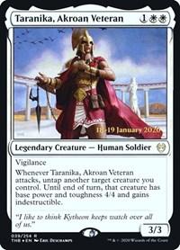 Taranika, Akroan Veteran, Magic: The Gathering, Prerelease Cards