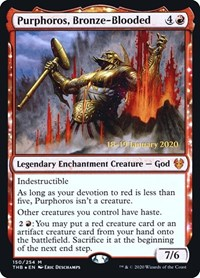 Purphoros, Bronze-Blooded, Magic: The Gathering, Prerelease Cards