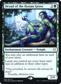 Dryad of the Ilysian Grove, Magic: The Gathering, Prerelease Cards