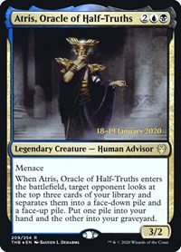Atris, Oracle of Half-Truths, Magic: The Gathering, Prerelease Cards