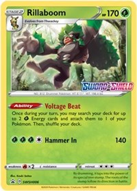 Rillaboom - SWSH006 (Prerelease Promo), Pokemon, SWSH: Sword & Shield Promo Cards