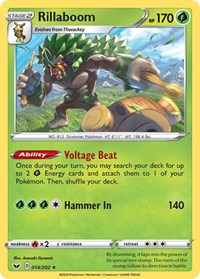 Rillaboom (014), Pokemon, SWSH01: Sword & Shield Base Set