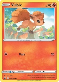 Vulpix, Pokemon, SWSH01: Sword & Shield Base Set