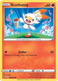 Scorbunny (030), Pokemon, SWSH01: Sword & Shield Base Set