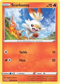 Scorbunny (031), Pokemon, SWSH01: Sword & Shield Base Set