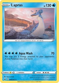 Lapras, Pokemon, SWSH01: Sword & Shield Base Set