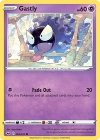 Gastly, Pokemon, SWSH01: Sword & Shield Base Set