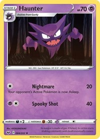 Haunter, Pokemon, SWSH01: Sword & Shield Base Set