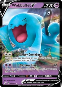 Wobbuffet V, Pokemon, SWSH01: Sword & Shield Base Set