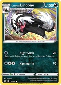 Galarian Linoone, Pokemon, SWSH01: Sword & Shield Base Set