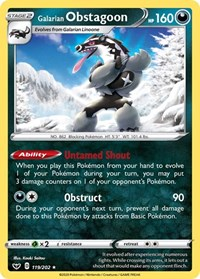 Galarian Obstagoon, Pokemon, SWSH01: Sword & Shield Base Set