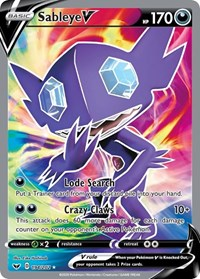 Sableye V (Full Art), Pokemon, SWSH01: Sword & Shield Base Set