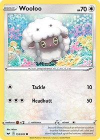 Wooloo (153), Pokemon, SWSH01: Sword & Shield Base Set