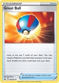 Great Ball, Pokemon, SWSH01: Sword & Shield Base Set
