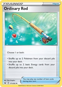 Ordinary Rod, Pokemon, SWSH01: Sword & Shield Base Set
