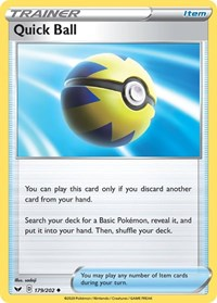 Quick Ball, Pokemon, SWSH01: Sword & Shield Base Set