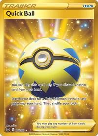Quick Ball (Secret), Pokemon, SWSH01: Sword & Shield Base Set