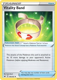Vitality Band, Pokemon, SWSH01: Sword & Shield Base Set