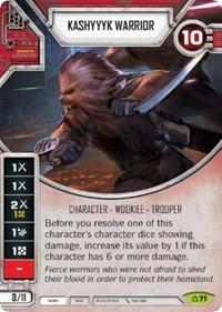 x1 Kashyyyk Warrior 71 Rare Star Wars Destiny Covert Missions M//NM