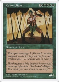 Craw Giant, Magic: The Gathering, Fifth Edition