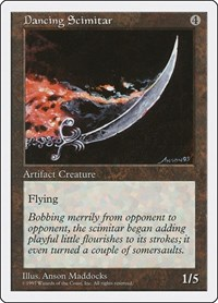 Dancing Scimitar, Magic: The Gathering, Fifth Edition