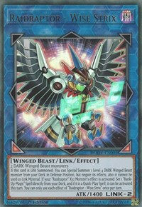 Raidraptor - Wise Strix, YuGiOh, Duel Overload